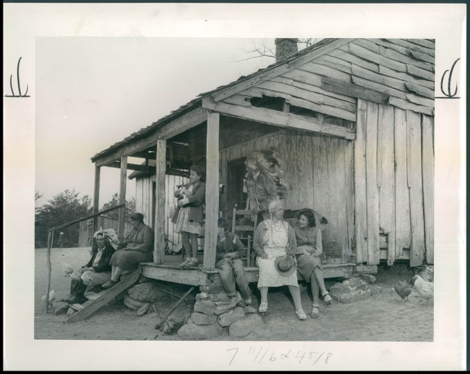In North Carolina the two Brooks families were tenant farmers. In Maryland they are on their own, with 300 acres of good corn and tobacco land—land much better than the swampy soil they struggled with in the South. (A. Aubrey Bodine/Baltimore Sun) Though many Lumbee migrated to Baltimore, in May 1950, The Sun also wrote about a group that came to St. Mary's County in Maryland. A. Aubrey photographed two families that had been tenant farmers in North Carolina but were able to purchase land in Maryland. A Maryland Piscataway Indian named Philip S. Proctor had been encouraging Lumbee to craft Indian costumes and to revive old cultural practices like powwows.