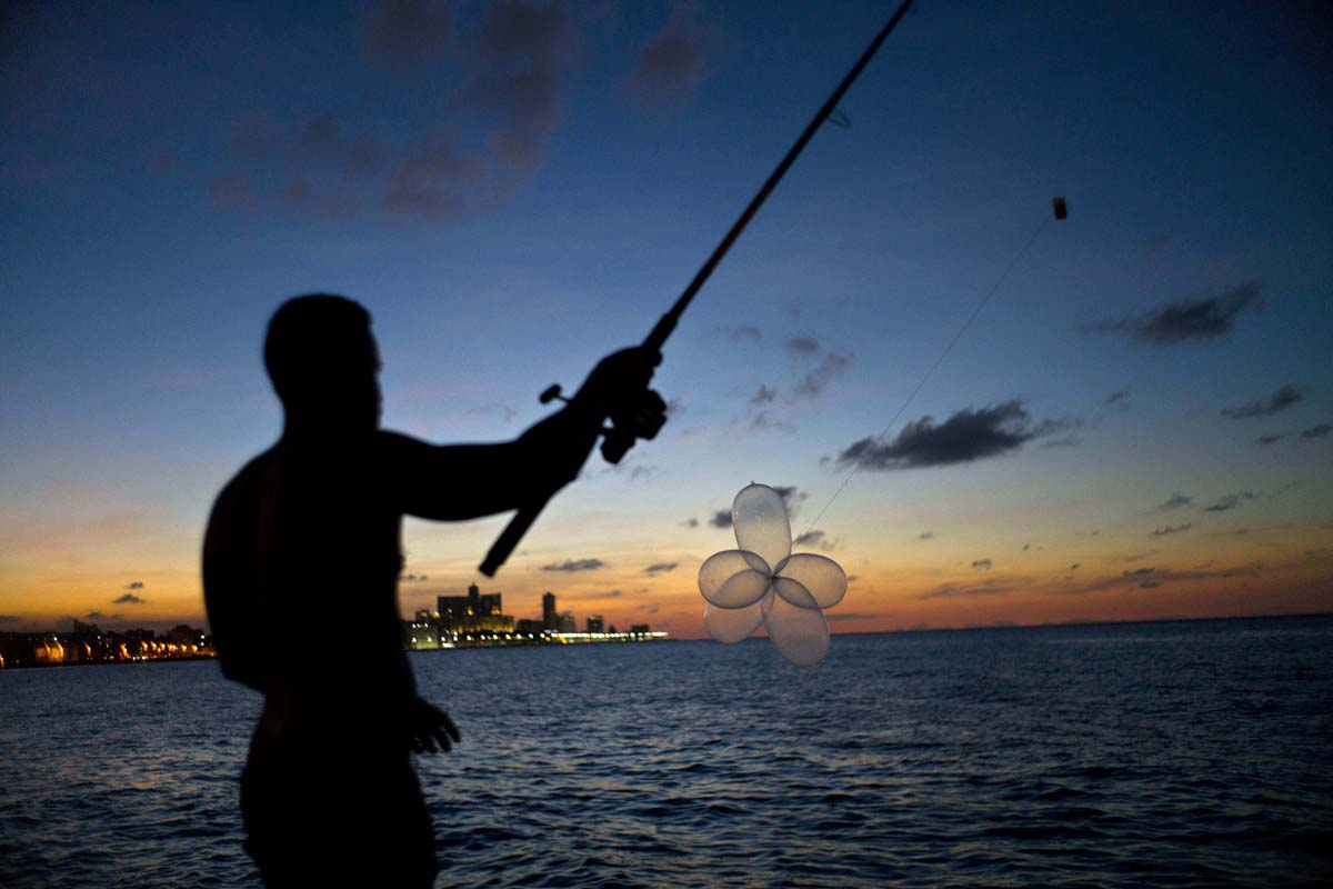 Secret weapon for Cuban fishermen: condoms