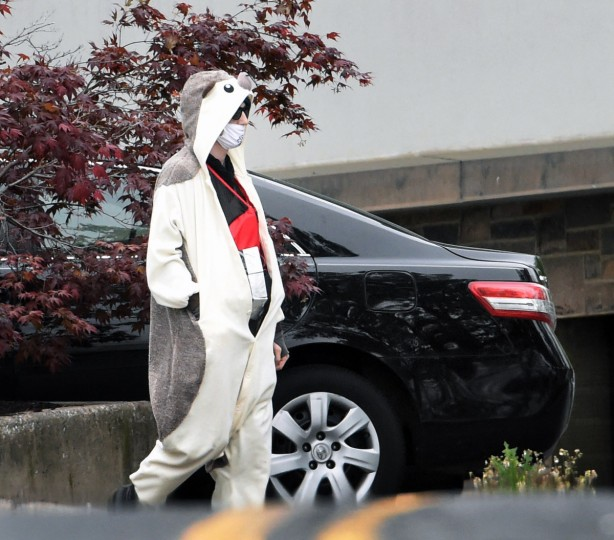 A 25-year-old Howard County man dressed in a costume, a surgical mask and a suspicious device taped to his body, walked into Fox 45 television station on 41st street at about 1:30 p.m. The incident ended with Baltimore police shooting the suspect several times. (Kenneth K. Lam/Baltimore Sun)