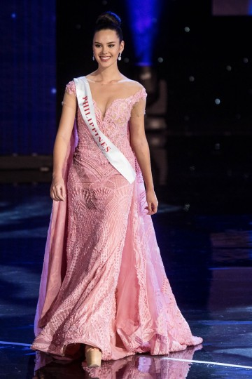 Miss Philippines Catriona Elisa Gray is pictured during the Grand Final of the Miss World 2016 pageant at the MGM National Harbor December 18, 2016 in Oxon Hill, Maryland. (AFP PHOTO / ZACH GIBSON)