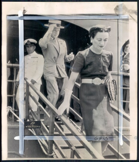 Duke and Duchess of Windsor in photo dated 1945.