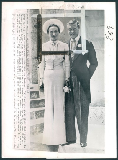 The Duke and Duchess of Windsor on their wedding day.