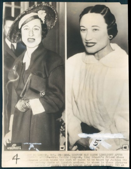 Wallis Simpson in photo dated 1936.