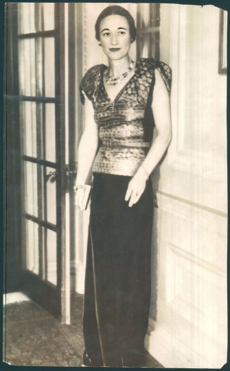 Wallis Simpson in photo dated 1936. (Baltimore Sun)