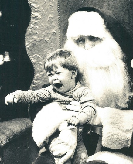 One-and-a-half year-old Sean Kraushaar, of Millersville, was less than thrilled to see Santa at Montgomery Wards Shopping Plaza in Glen Burnie in 1980. (Jed Kirschbaum/Baltimore Sun)