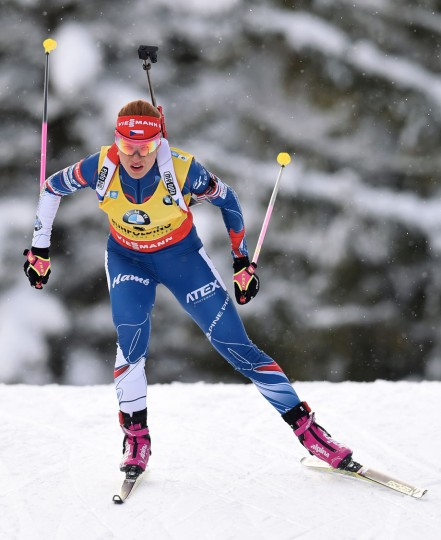Gabriela Koukalova of the Czech Republic competes to place second in the women's 10 km pursuit event at the Biathlon World Cup on January 15, 2017, in Ruhpolding, southern Germany. (Christof Stache/AFP/Getty Images)