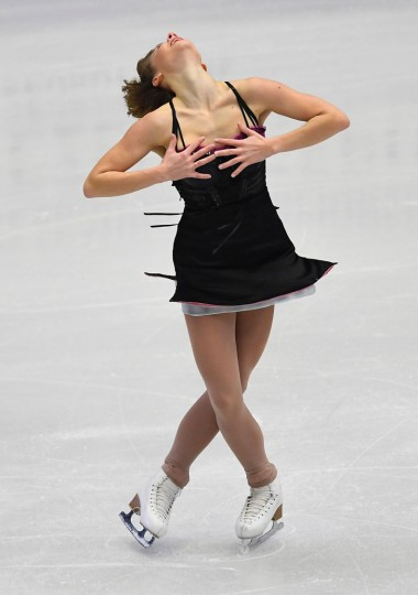 France's Laurine Lecavelier competes during the ladies free skating competition of the European Figure Skating Championship in Ostrava, Czech Republic on January 27, 2017. (Joe Klamar/AFP/Getty Images)