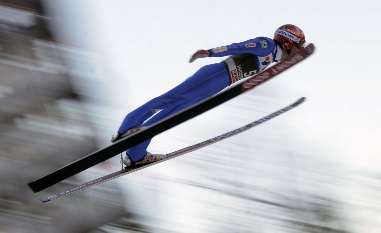 Vincent Descombes Sevoie of France competes during the qualification of the Four Hills competition (Vierschanzentournee) of the FIS Ski Jumping World Cup in Innsbruck on January 3, 2017. The third competition of the Four-Hills Ski jumping event takes place in Innsbruck before the tournament continues in Bischofshofen (Austria). (Michal Cizek/AFP/Getty Images)