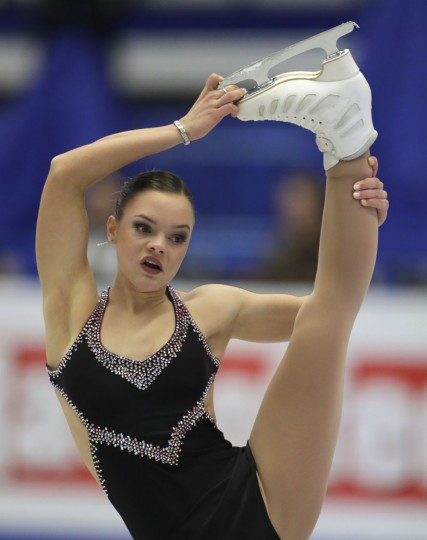 Belgium's Loena Hendrickx skates her free program at the European Figure Skating Championships in Ostrava, Czech Republic, Friday, Jan. 27, 2017. (AP Photo/Petr David Josek)