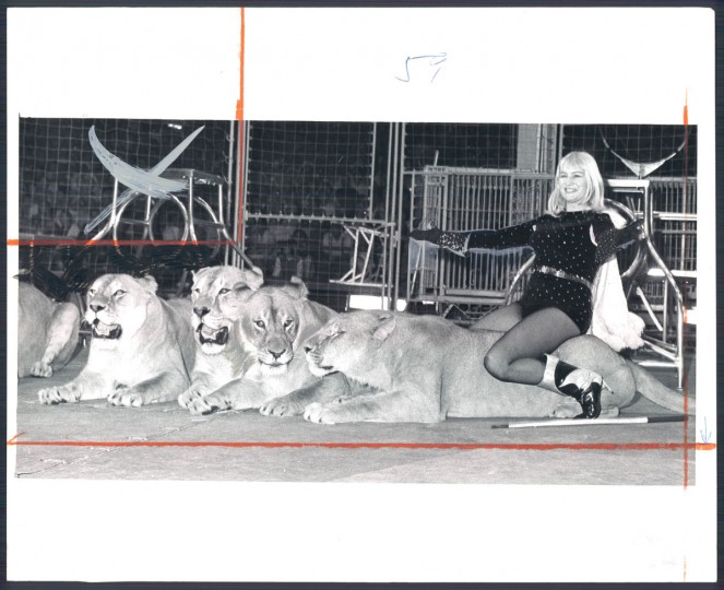 Adele Smieja, Lion Tamer, in 1967. (Baltimore Sun)