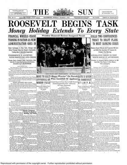 Franklin-Roosevelts-First-of-Four-March--5,-1933-Front-