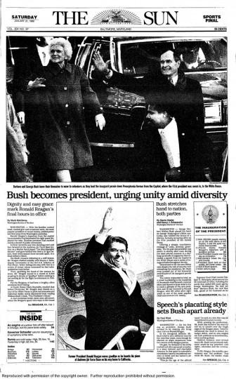 George Bush. Jan. 21, 1989.