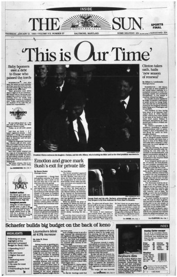 Bill Clinton. Jan. 21, 1993.