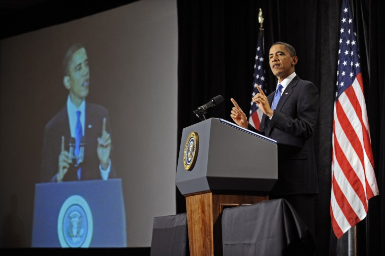 January 29, 2010 --  President Barack Obama addressed and answered questions from Republican House members during their retreat held at the Renaissance Baltimore Harborplace Hotel.  (Kenneth K. Lam/The Baltimore Sun)