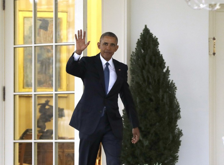 President Barack Obama waves as he leaves the Oval Office of the White House in Washington, Friday, Jan. 20, 2017, before the start of presidential inaugural festivities for the incoming 45th President of the United States Donald Trump.  || CREDIT: EVAN VUCCI - AP PHOTO