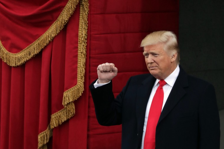 U.S. President-elect Donald Trump arrives on the West Front of the U.S. Capitol on January 20, 2017 in Washington, DC. In today's inauguration ceremony Donald J. Trump becomes the 45th president of the United States.  (Chip Somodevilla/Getty Images)