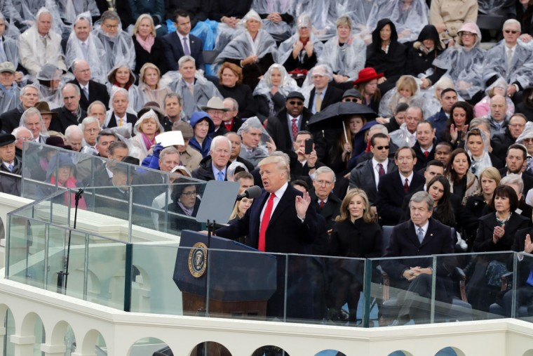 U.S. President Donald Trump delivers his inaugural address on the West Front of the U.S. Capitol on January 20, 2017 in Washington, DC. In today's inauguration ceremony Donald J. Trump becomes the 45th president of the United States.  (Chip Somodevilla/Getty Images)