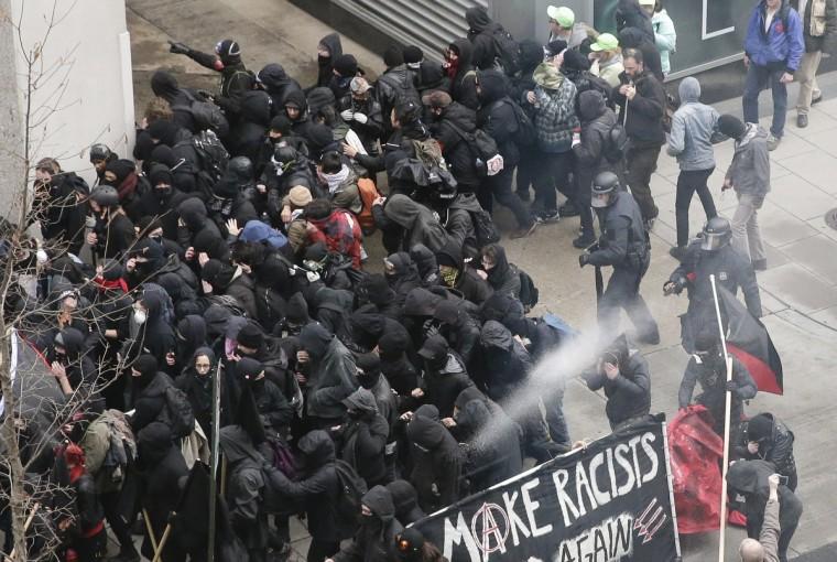 APphoto_Trump Inauguration Protests