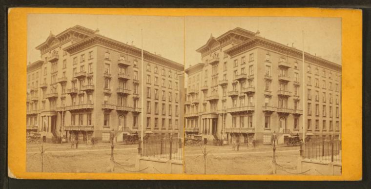 Monument. Barnum Hotel. (Image via New York Public Library, Miriam and Ira D. Wallach Division of Arts, Prints and Photographs: Photography Collection)