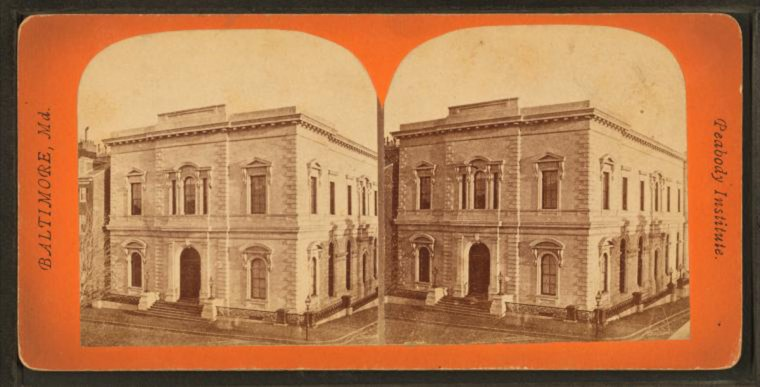 Peabody Institute. (Image via New York Public Library, Miriam and Ira D. Wallach Division of Arts, Prints and Photographs: Photography Collection)