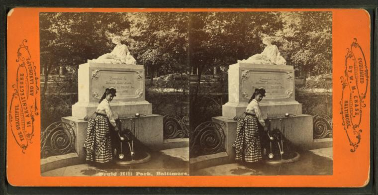 Woman at Druid Hill Park. (Image via New York Public Library, Miriam and Ira D. Wallach Division of Arts, Prints and Photographs: Photography Collection)