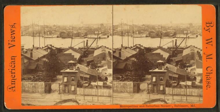Panoramic view of the city, N. from Federal Hill Park, 1879. (Image via New York Public Library, Miriam and Ira D. Wallach Division of Arts, Prints and Photographs: Photography Collection)