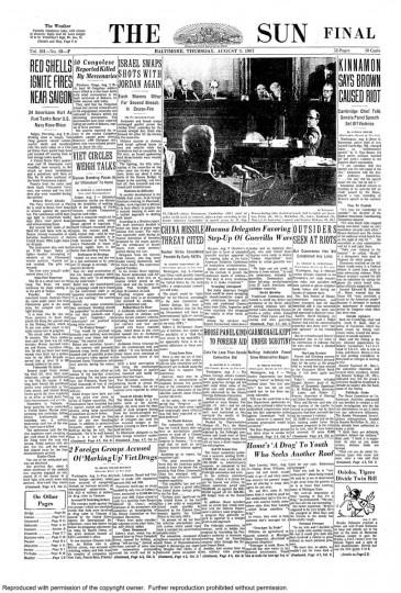 Baltimore Sun: August 3, 1967