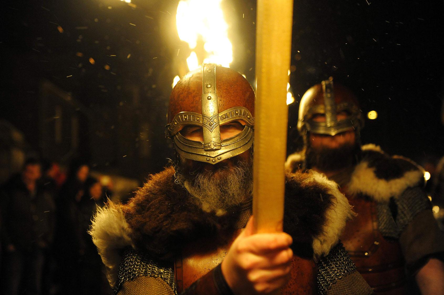 Up Helly Aa Viking festival in Shetland Islands