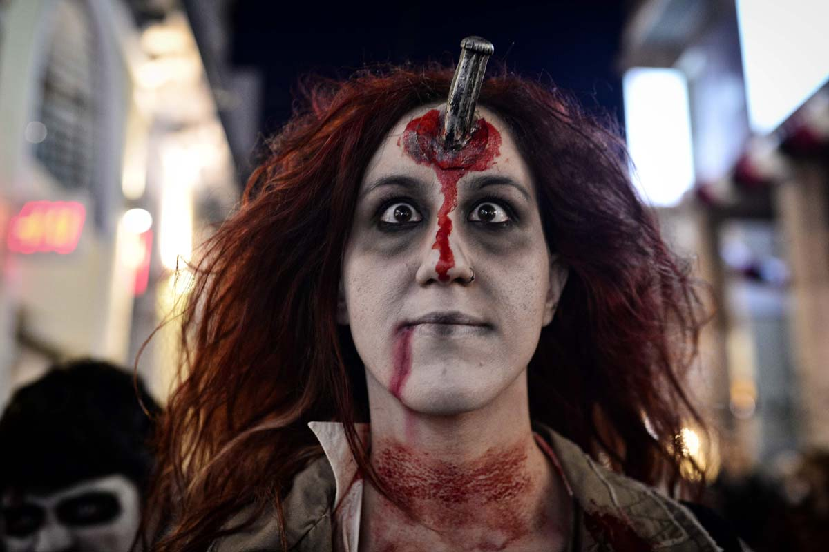 Zombies on parade at Athens carnival