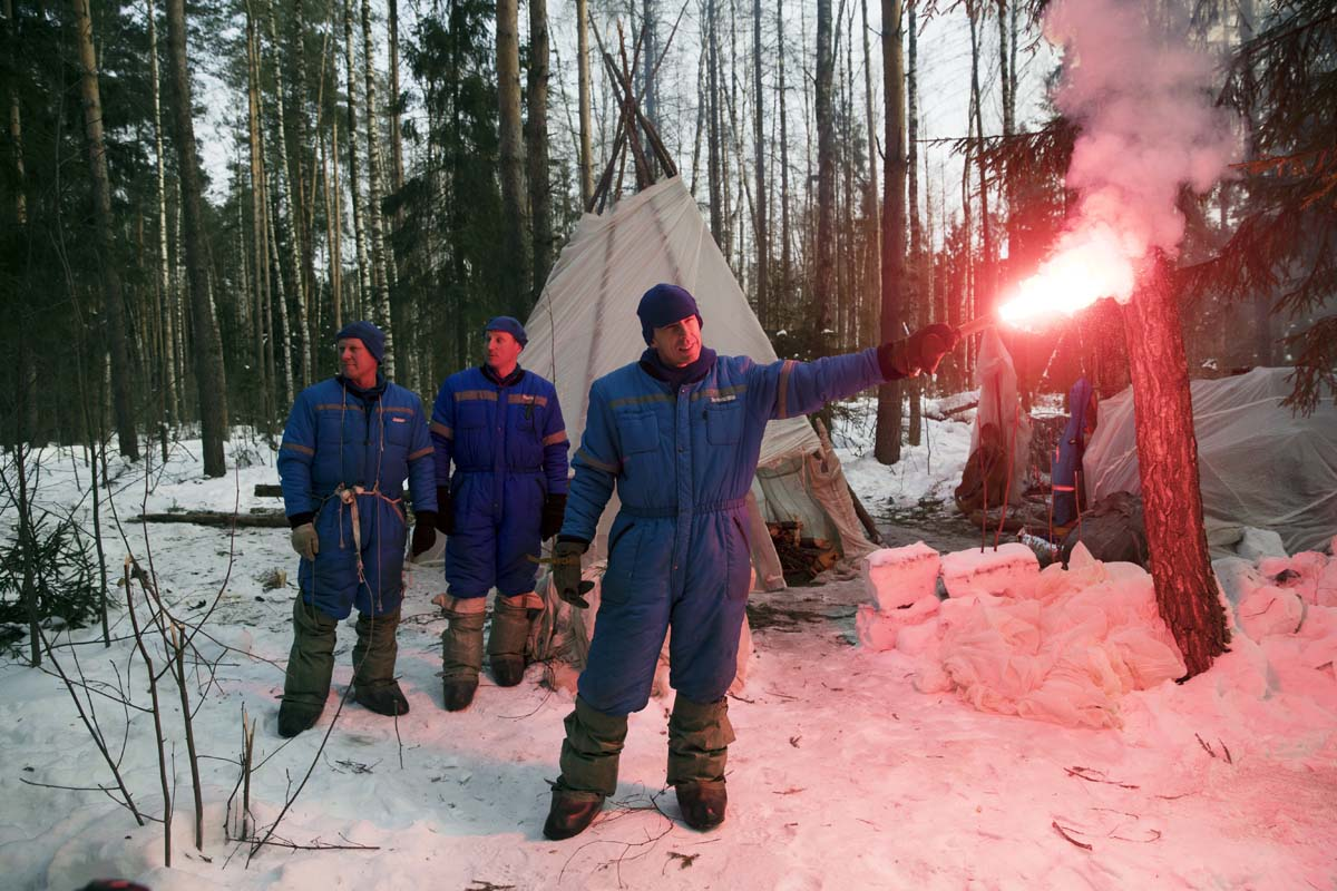 Winter training at the Russian Space Center