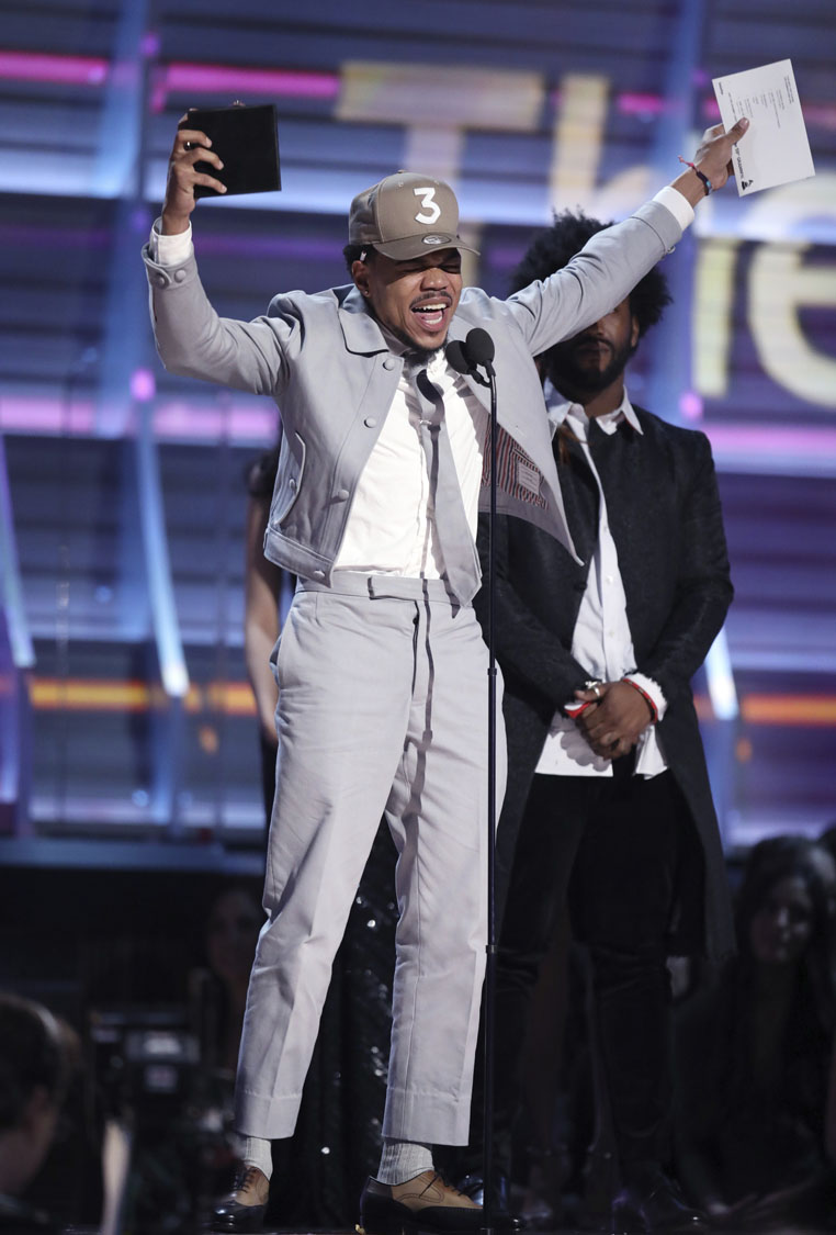 The coloring book grammy - Chance The Rapper Accepts The Award For Best Rap Album For Coloring Book At The 59th Annual Grammy Awards On Sunday Feb 12 2017 In Los Angeles