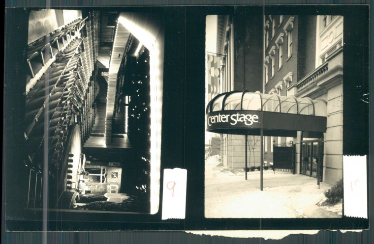 Center Stage's Calvert Street location on November 21, 1987. (Baltimore Sun)