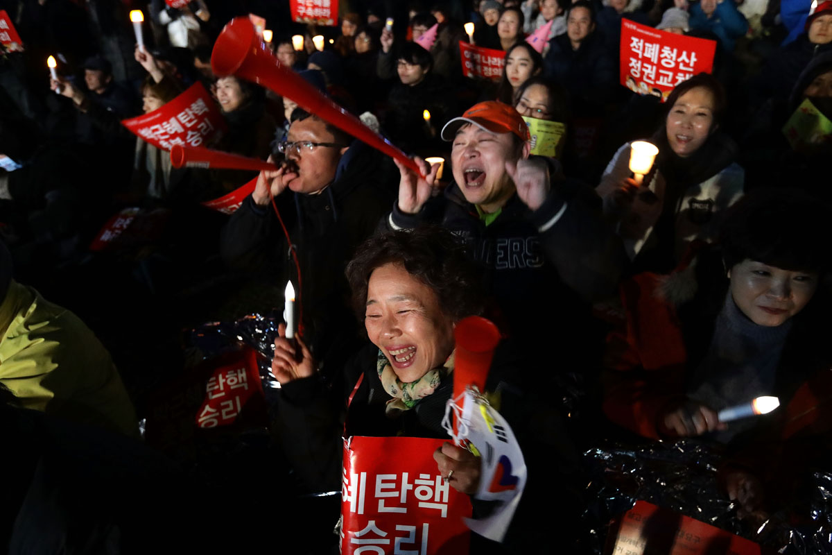 South Koreans react to removal of president Park Geun-hye