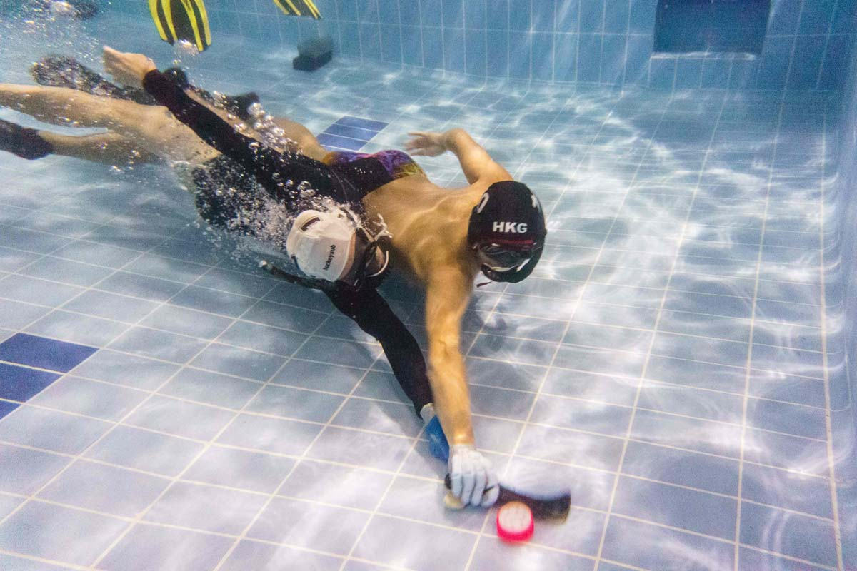 Diving in with Hong Kong underwater hockey team