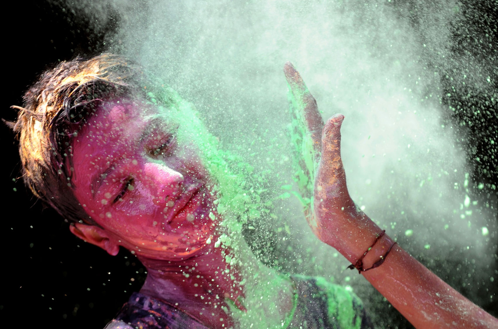 Celebrating Holi, 'festival of colors,' in India