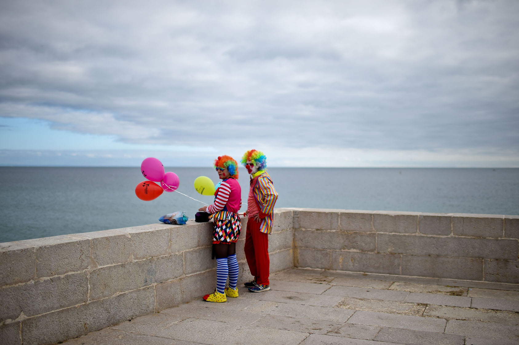 Clowns parade in Portugal