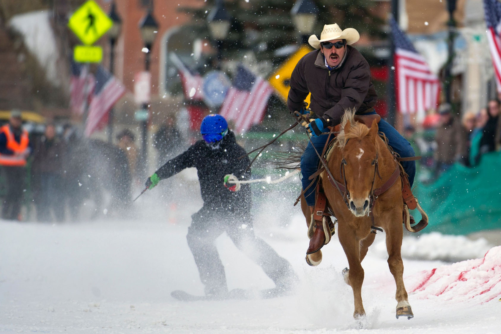 68th annual Leadville Ski Joring competition in Colorado