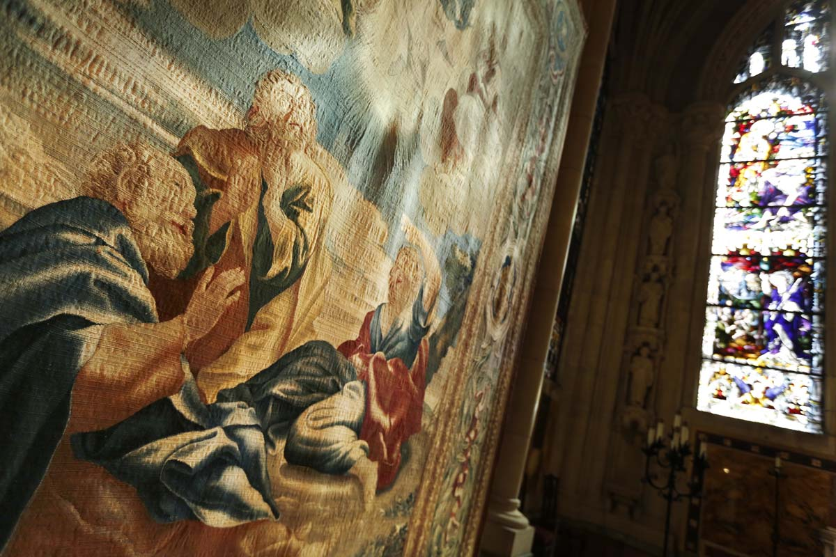 Tapestries at the Cathedral of St. John the Divine in New York