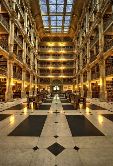 The Peabody Library. (Photograph courtesy of Doug Ebbert)