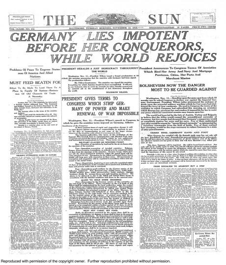 November 12 1918: Armistice