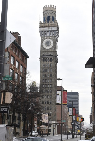 The Bromo Seltzer Arts Tower is seen on Lombard Street in Downtown Baltimore.  (Barbara Haddock Taylor/Baltimore Sun)