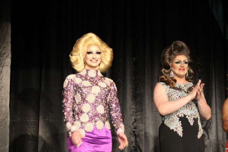 Contestants in evening gown: Alexa Shontelle and Dezi Minaj. (Michael J. Palmisano with Palmisano Productions)