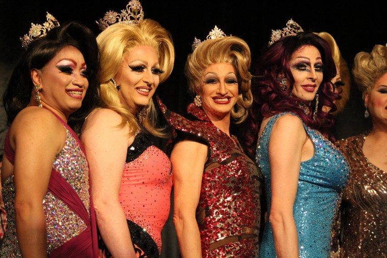 Former Miss MDs Sue Nami, Ashley Bannks, Truly Fabu and Andora Tetee. (Michael J. Palmisano with Palmisano Productions)