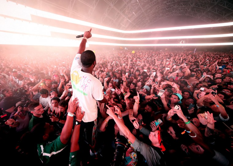 Rapper ASAP Ferg performs on the Sahara stage during day 3 of the Coachella Valley Music And Arts Festival (Weekend 1) at the Empire Polo Club on April 16, 2017 in Indio, California. (Photo by Christopher Polk/Getty Images for Coachella)
