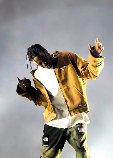 Rapper Travis Scott performs on the Coachella Stage during day 3 of the Coachella Valley Music And Arts Festival (Weekend 1) at the Empire Polo Club on April 16, 2017 in Indio, California. (Photo by Kevin Winter/Getty Images for Coachella)