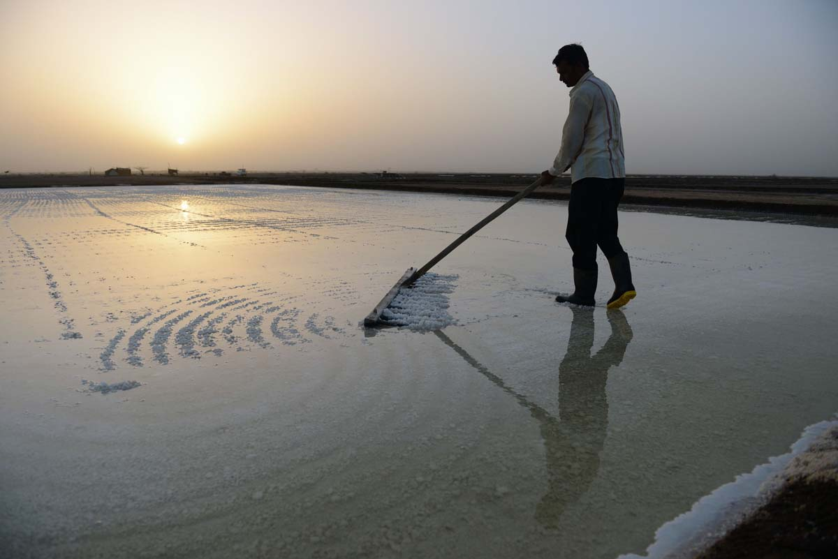 Salt farming season in remote Indian community