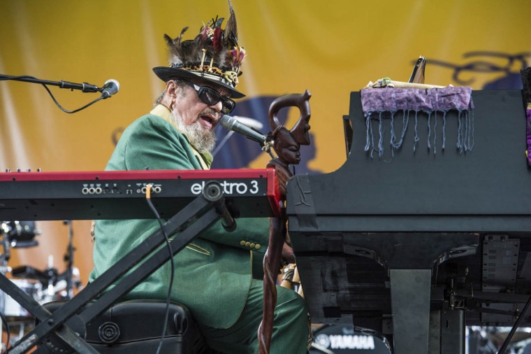 Dr. John performs at the New Orleans Jazz and Heritage Festival on Sunday, April 30, 2017, in New Orleans. (Amy Harris/Invision/AP)