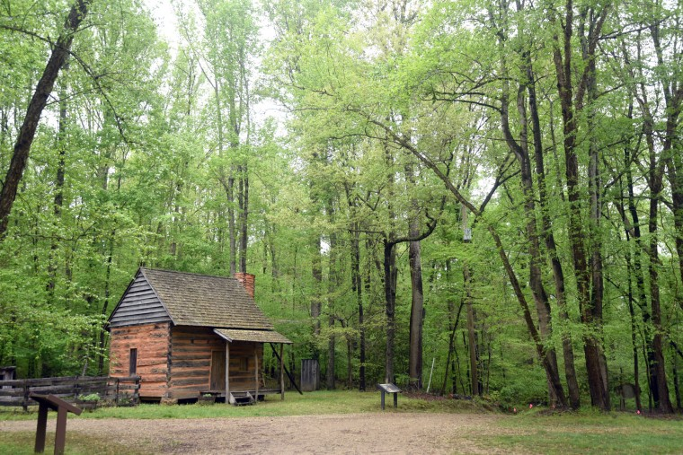 The Duckett Cabin, built around 1880 for tenant farmers was moved from Aquasco to Patuxent River Park in 1974. The hand-hewn log cabin is one of several buildings in the Patuxent Rural Life Museum.    (Kim Hairston/Baltimore Sun)