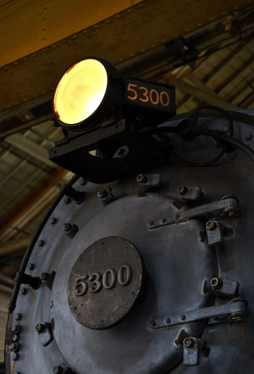 The 5300 President Washington is a Pacific-class locomotive that was built in 1927.  It pulled passenger trains between New York and Washington, and is the only one of its class that was saved from the scrap heap.  It is on display in the North Car Shop at the B&O Railroad Museum.  (Barbara Haddock Taylor/Baltimore Sun)