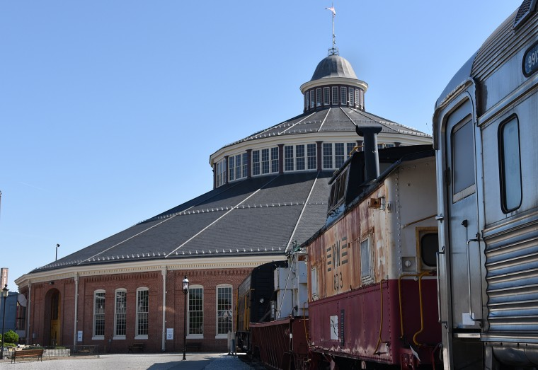 The B&O Railroad Museum's 1884 Baldwin Roundhouse houses several one-of-a kind Civil War era trains, an exhibition gallery, gift shop and a Thomas-themed children's play area.   (Barbara Haddock Taylor/Baltimore Sun)